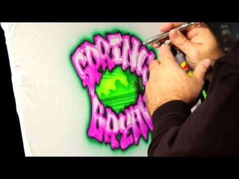 2014 Spring Break T-Shirt Airbrush Design by Gary Worthington – Airbrush Action