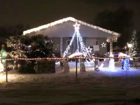 Dancing Christmas light show