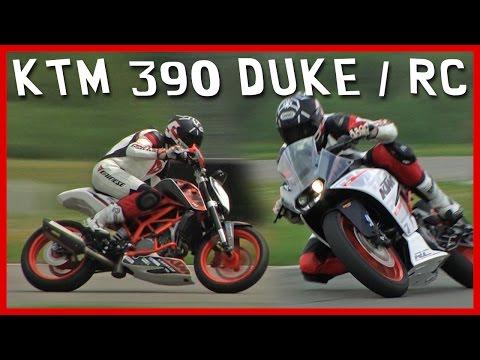 Essai KTM 390 RC  et DUKE : Le sport moto pour pas cher ! (English Subtitles)