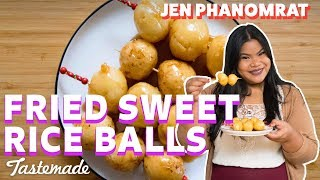 Filipino Carioca (Fried Sweet Rice Balls) I Good Times With Jen by Tastemade