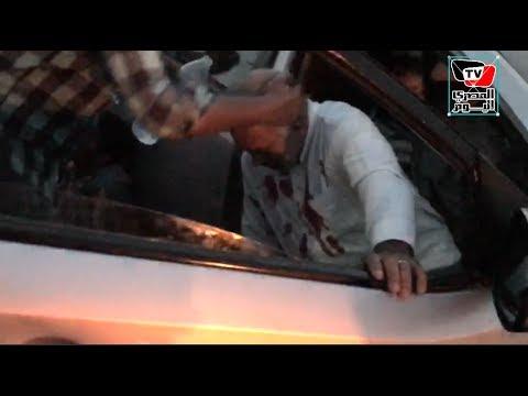 انقلاب سيارة وإصابة شخصين فى حادث على محور جوزيف تيتو