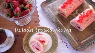 Przepis na roladę truskawkową