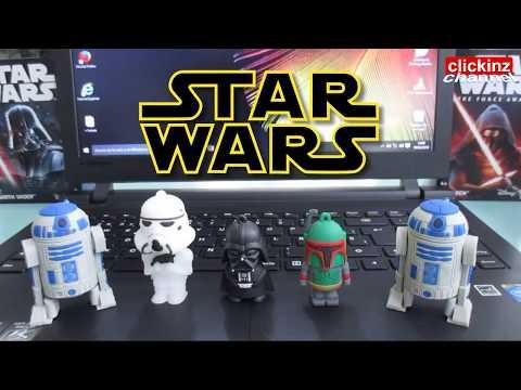 Pendrives de Star Wars Usb Pen Drive Flash Review Analisis Darth Vader Stormtrooper Boba Fett R2-D2