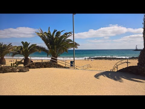 Costa Tequise (Lanzarote) beach and town tour