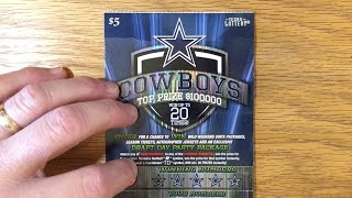 Giveaway Closes at Midnight Tonight! + another 1X $5 Cowboys - Texas Lottery