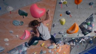 Nikken Continues Too Fight The Purple 8A by Eric Karlsson Bouldering