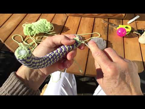 A crochet Rattle - easy to grasp