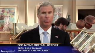 President Bush Reacts to Osama Bin Laden's Death with Will Ferrell