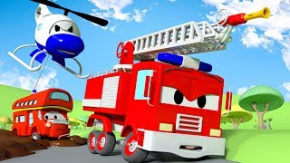 Video Sticky Mud  !! The Car Patrol: Fire Truck and Police Car in Car City | Cartoon Car for children MP3, 3GP, MP4, WEBM, AVI, FLV Juli 2017