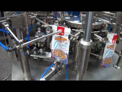 Automatic doypack machine for granuel grain filling seal packaging line máquina doypack