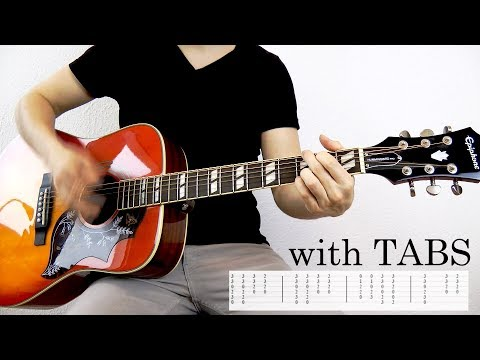 Avril Lavigne - When You're Gone Guitar Cover w/Tabs on screen