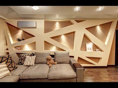 Дизайн стен гипсокартоном своими руками