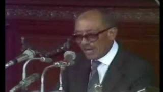 الخطاب الأخير للرئيس أنور السادات في مجلس الشعب كاملا 9