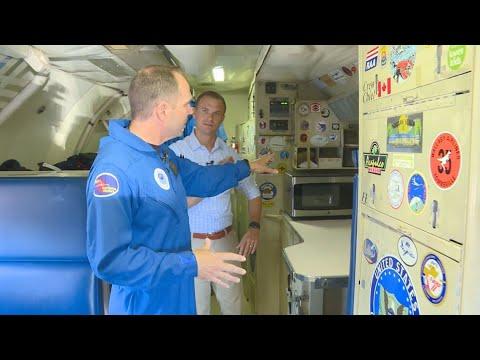 Inside NOAA's Lockheed WP-3D Orion...