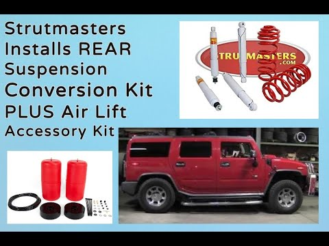 2004 Hummer H2 With A Strutmasters Air Suspension Conversion (Total Install Video)