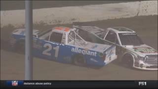 NASCAR Camping World Truck Series 2017. FP Eldora Speedway. Spins & Crashes