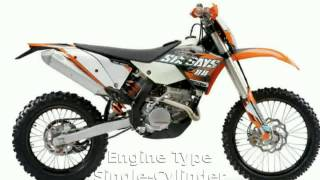 4. 2010 KTM XC 250 W - Specification