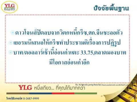 YLG บทวิเคราะห์ราคาทองคำประจำวัน 12-05-15