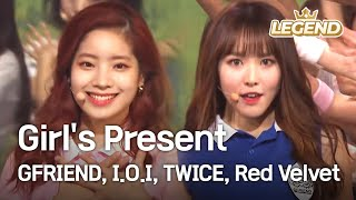 Video Girl's Present - GFRIEND,I.O.I,TWICE,Red Velvet  [2016 KBS Song Festival / 2017.01.01] MP3, 3GP, MP4, WEBM, AVI, FLV Januari 2019
