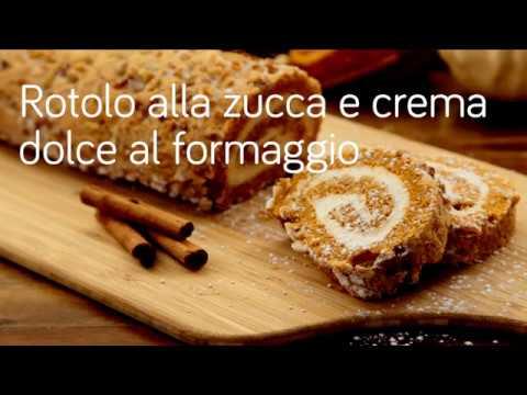 rotolo alla zucca con crema dolce al formaggio - ricetta