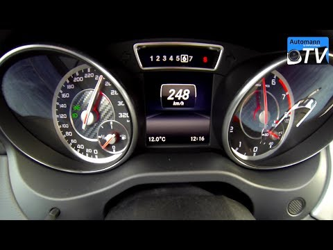 mercedes cla 45 amg da 0 a 254 km/h!