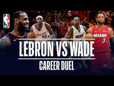 Video: LeBron James vs Dwyane Wade | Career Duel