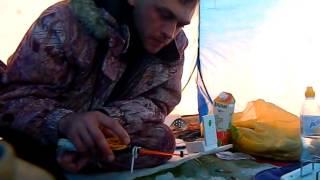 Зимняя рыбалка 2013-2014г на карася и плотву на озере Песчаное