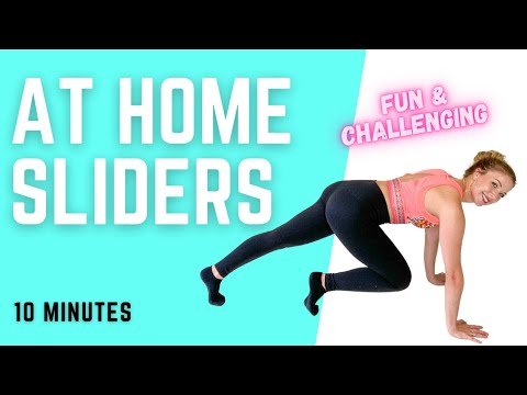 10 MINUTE AT HOME SLIDER WORKOUT - Full Body/Use Socks or Paper Plates