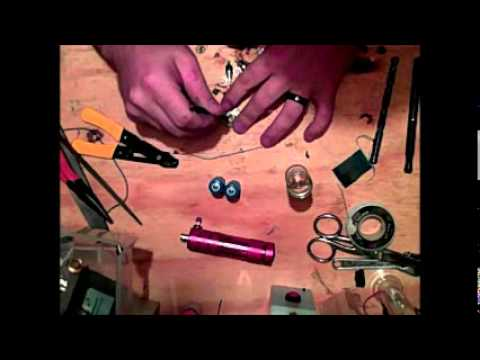 Ecig Mods - how to build a flashlight e cig mod. parts lower, but first, Free e cig trials are a scam, they rip you off! cartos are 1$ and juice is less then a 1$ a mill...
