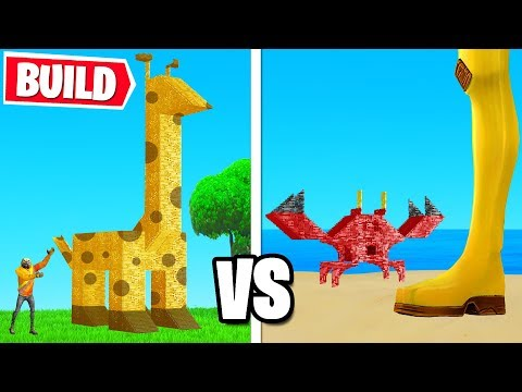 Fortnite BUILD The BEST ANIMAL Challenge! (Fortnite Creative)