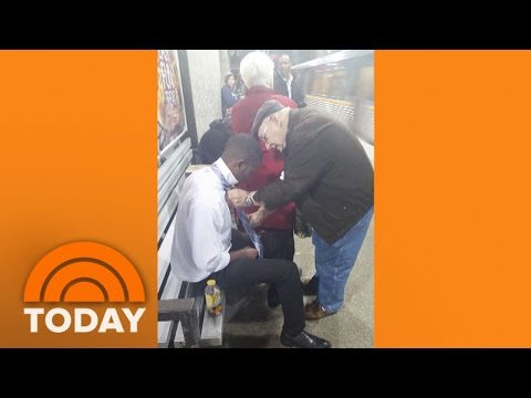 Elderly Couple Teaches Young Man To Tie A Tie | TODAY