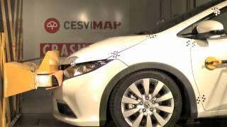 Bumper test delantero Honda Civic en CESVIMAP