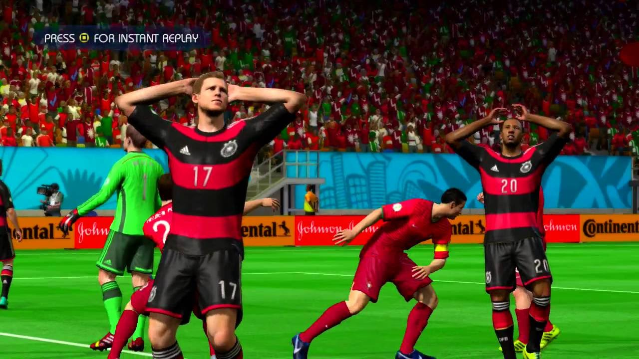 Portugal vs Germany Quarterfinal Game Pretend Olympic Games Using 2014 FIFA World Cup Brazil