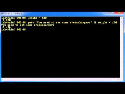 Ruby Programming Tutorial - 14 - Decision Making