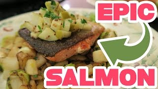 EPIC SEARED SALMON!! Cooking with aDrive! Seared Salmon and Fall Vegetables Featuring Blue Apron by aDrive
