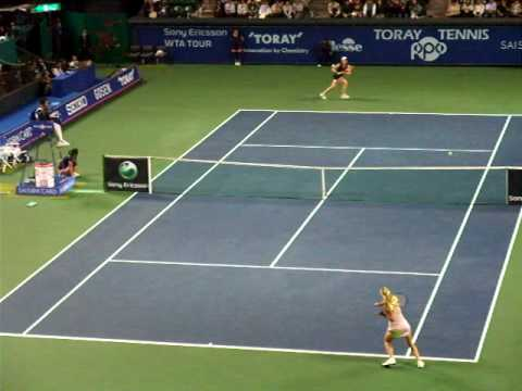 Maria Sharapova backhand shot