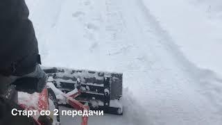 Гусеничка дождалась снега