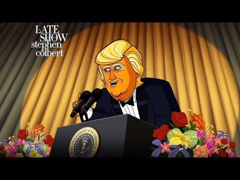 Cartoon Donald Trump Dreads The White House Correspondents' Dinner
