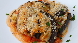 Hasselback Eggplant Parmesan by Tasty
