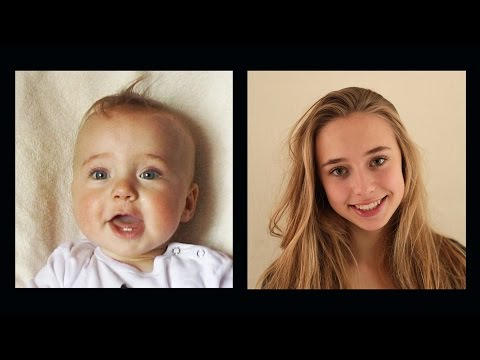 5分鐘看完正妹從0到16歲的成長歷程 時間太奇妙