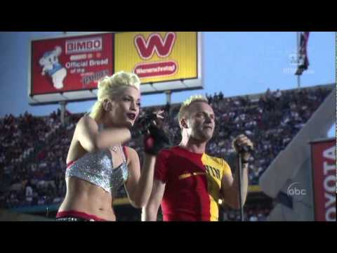 No Doubt & Sting Super Bowl Halftime 2003 Message In A Bottle.