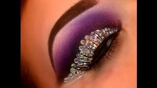 Rhinestone Cut Crease - YouTube
