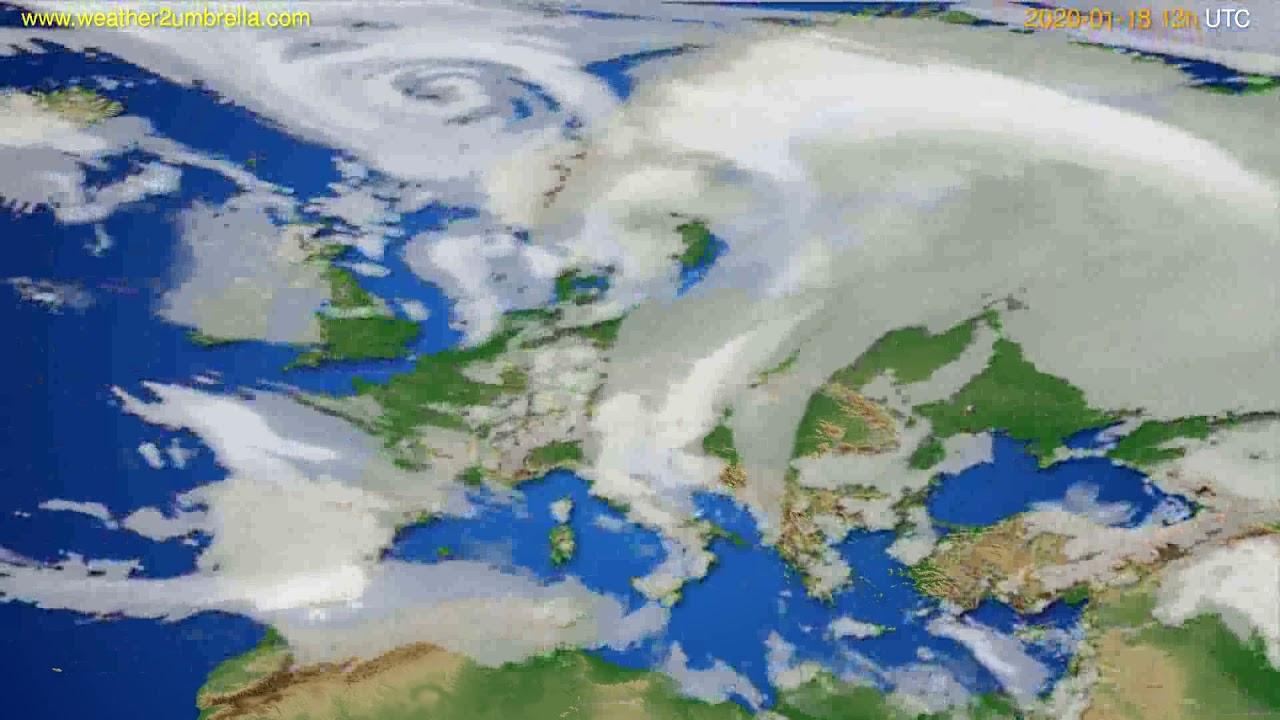 Cloud forecast Europe // modelrun: 12h UTC 2020-01-17