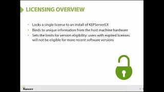 Licensing KEPServerEX Version 5 Webinar