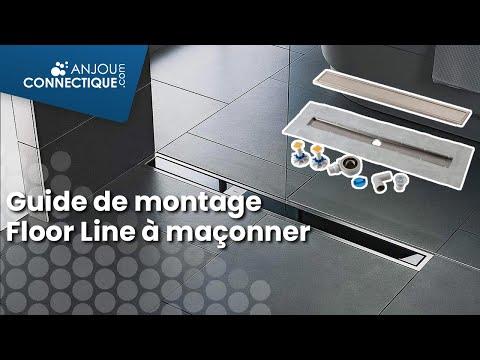 Douche l'italienne : guide de montage solution Floor line à maçonner.