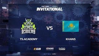 TS.Academy vs KHANS, map 2 train, SL i-League Invitational Shanghai 2017 CIS Qualifier