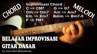 Belajar Teknik Improvisasi Gitar Dasar Pemula - MELODI & CHORD Lengkap !