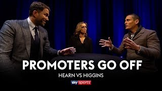 PROMOTERS GO OFF: Eddie Hearn vs David Higgins | Anthony Joshua vs Joseph Parker