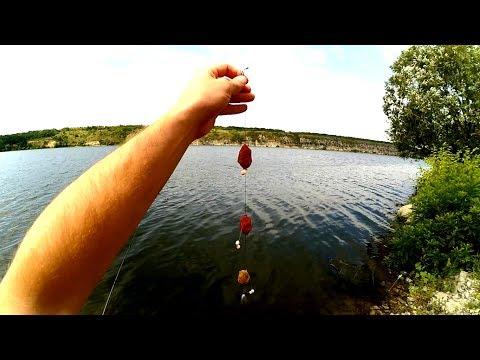 ловля рыбы на чеснок видео