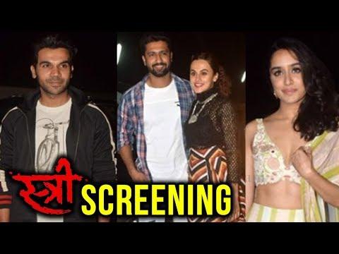 Stree Movie Screening | Taapsee Pannu, Vicky Kaush